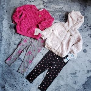 Juicy Couture. Girls 4pc Faux Fur Legging Sets 24m